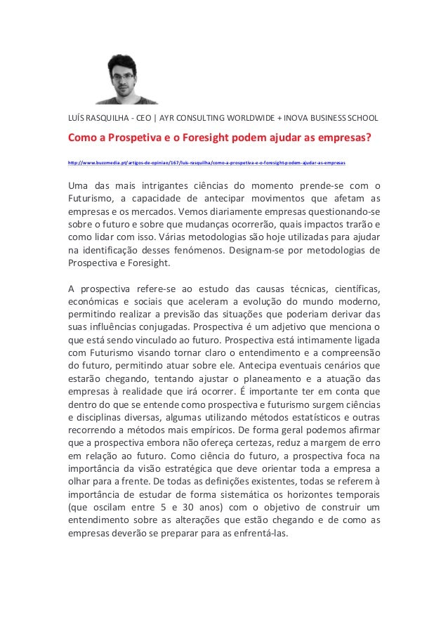 LUÍS  RASQUILHA  -‐  CEO  |  AYR  CONSULTING  WORLDWIDE  +  INOVA  BUSINESS  SCHOOL   Como  a ...