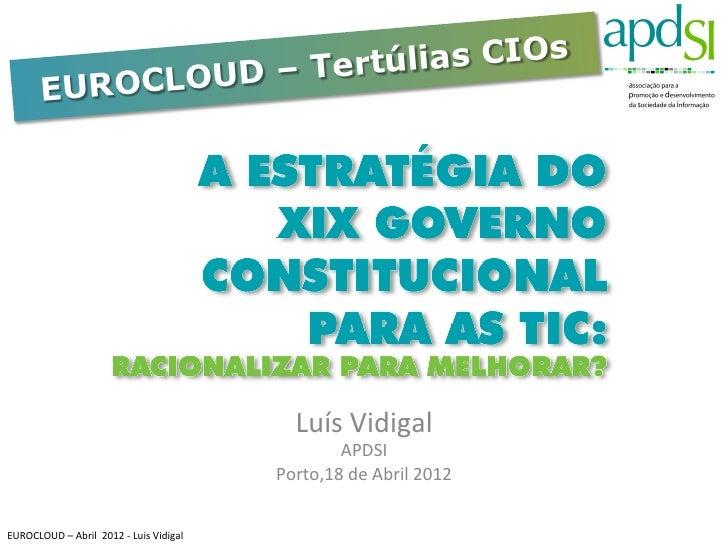 UD – Tertúlias CIOs             EUROCLO                                                                       Luís Vid...