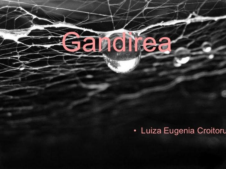 <ul><ul><li>Luiza Eugenia Croitoru </li></ul></ul>Gandirea
