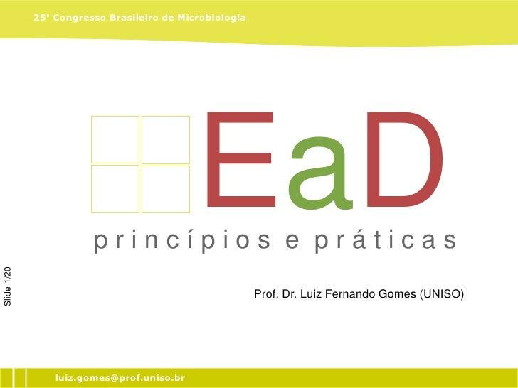 25° Congresso Brasileiro de Microbiologia                                                 EaD                         prin...