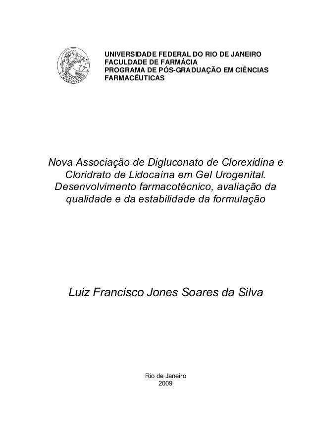 UNIVERSIDADE FEDERAL DO RIO DE JANEIRO FACULDADE DE FARMÁCIA PROGRAMA DE PÓS-GRADUAÇÃO EM CIÊNCIAS FARMACÊUTICAS Nova Asso...