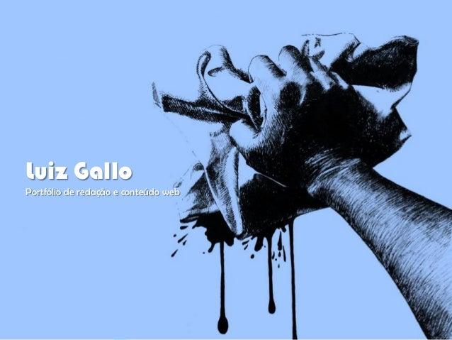 Luiz Gallo Portfólio de redação e conteúdo web