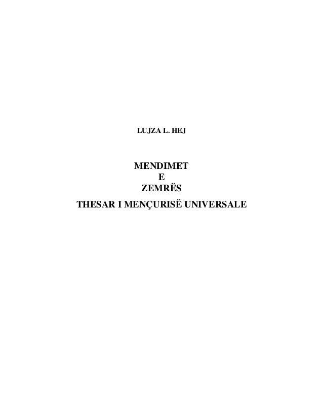 LUJZA L. HEJ  MENDIMET  E  ZEMRËS  THESAR I MENÇURISË UNIVERSALE
