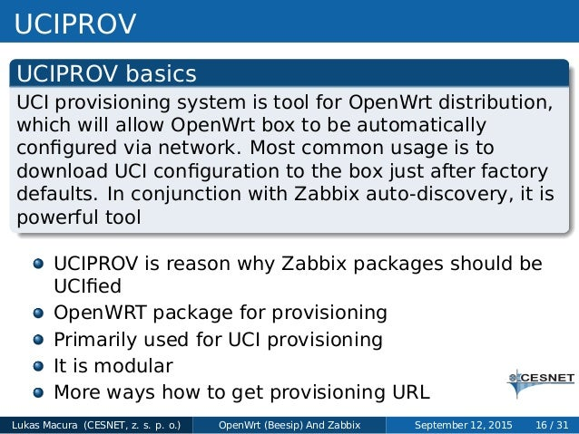 Lukas Macura - Employing Zabbix to monitor OpenWrt (Beesip