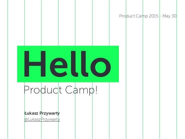 HelloProduct Camp! Łukasz Przywarty @LukaszPrzywarty Product Camp 2015 - May 30