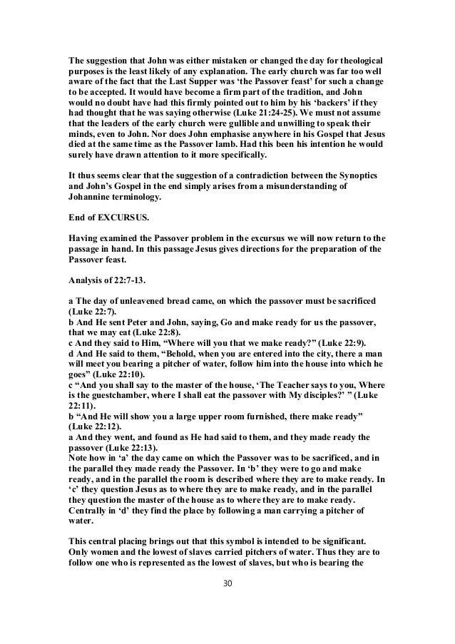 Luke 22 commentary