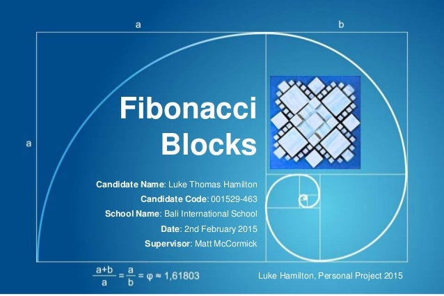 Fibonacci Blocks Candidate Name: Luke Thomas Hamilton Candidate Code: 001529-463 School Name: Bali International School Da...