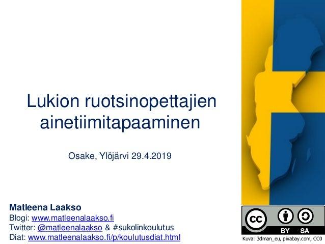 Matleena Laakso Blogi: www.matleenalaakso.fi Twitter: @matleenalaakso & #sukolinkoulutus Diat: www.matleenalaakso.fi/p/kou...