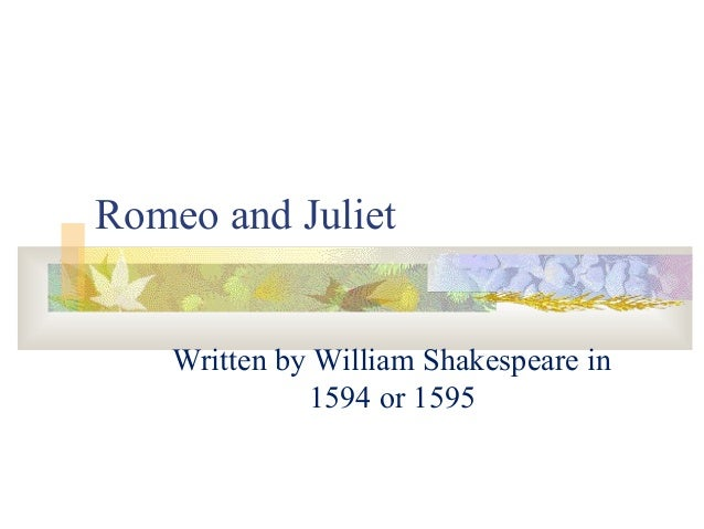 romeo and julliet coursework Romeo and juliet coursework extracts from this document introduction  explore the ways that shakespeare makes act1 scene 5 of  romeo.