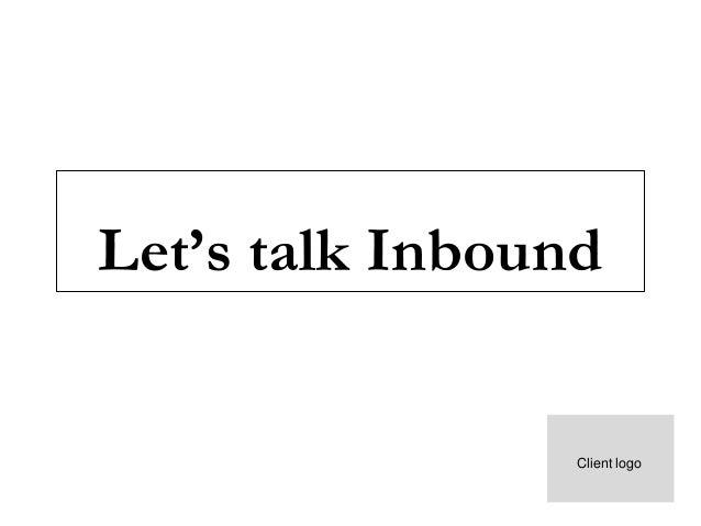 Let's talk Inbound Client logo Month,Year