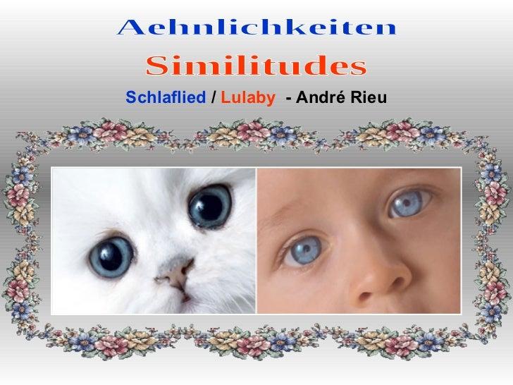 Aehnlichkeiten Similitudes Schlaflied  /  Lulaby   - André Rieu
