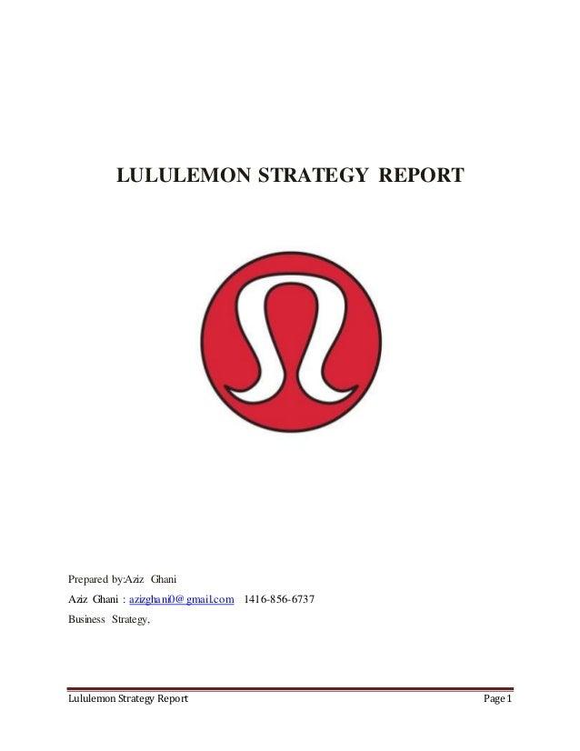 lululemon marketing strategy 2018