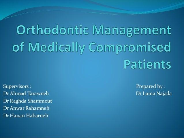 Supervisors : Prepared by : Dr Ahmad Tarawneh Dr Luma Najada Dr Raghda Shammout Dr Anwar Rahamneh Dr Hanan Habarneh