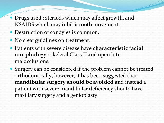 2. osteoprosis  Drugs used : bisphosphonate, estrogen .  Estrogen has no effect on orthodontic tx, not widely used anymo...