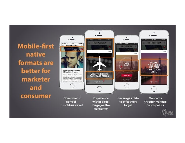Mobile-first native formats are better for marketer and consumer Consumer in control – unobtrusive ad Experience within pag...