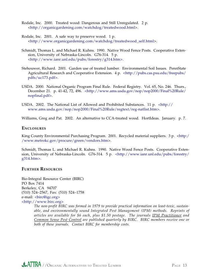 PAGE 12   ORGANIC ALTERNATIVES TO TREATED LUMBER  13. Organic Alternatives to Treated Lumber