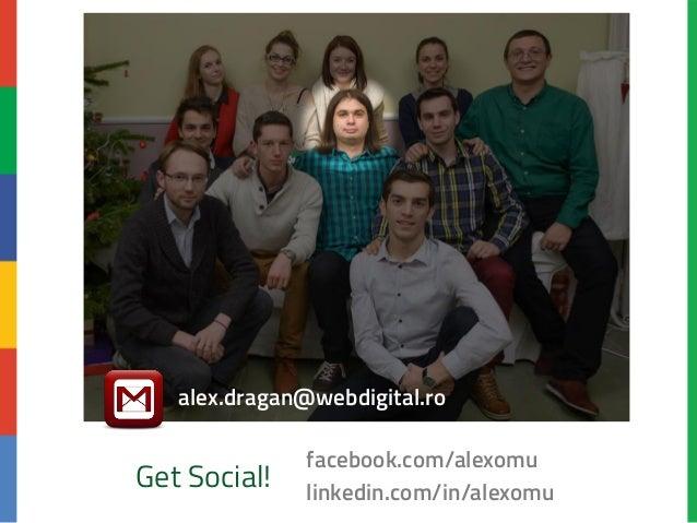 Lumea SEO PPC Mai 2014 Google Analytics Basics - Alex Dragan Slide 2