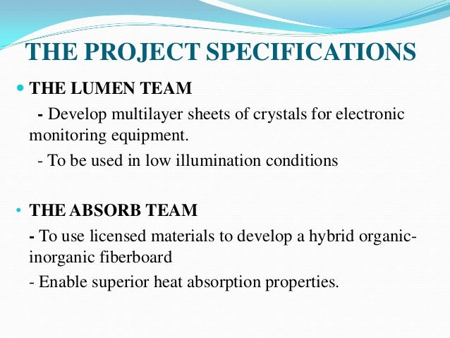 Lumen and Absorb Teams at Crutchfield Chemical Engineering Case Study Analysis & Solution