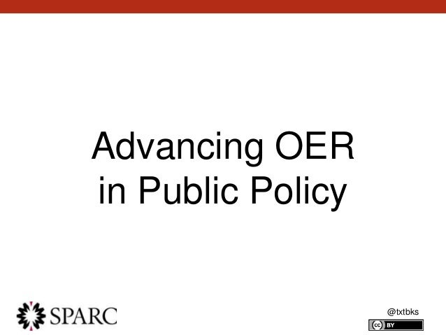 @txtbks Advancing OER in Public Policy