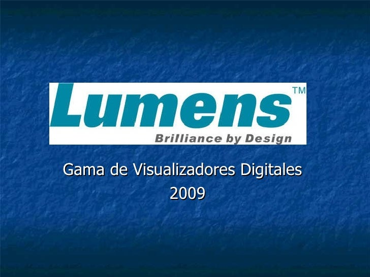 Gama de Visualizadores Digitales  2009