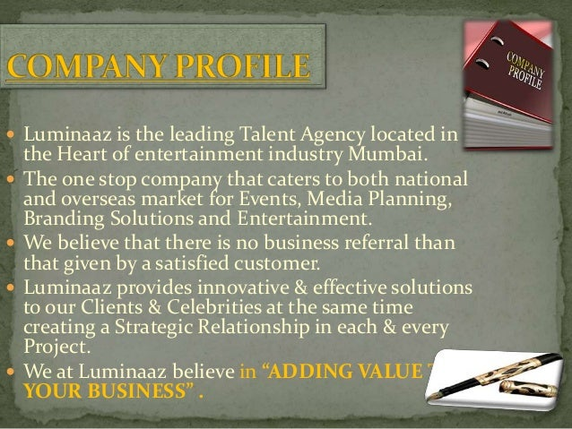  Luminaaz is the leading Talent Agency located in the Heart of entertainment industry Mumbai.  The one stop company that...