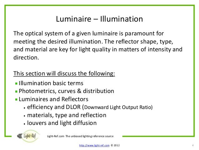 Luminaires – Module 3 Functional Aspects