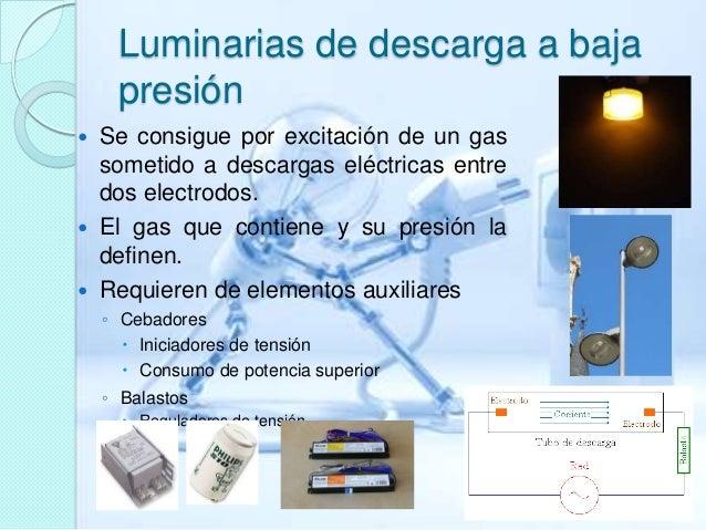 Luminarias de descarga de baja presion