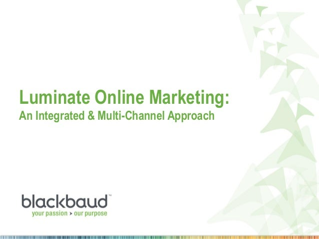 Luminate Online Marketing: An Integrated & Multi-Channel Approach