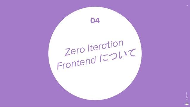MAGIC LEAP 2021 72 Zero Iteration Frontend について 04