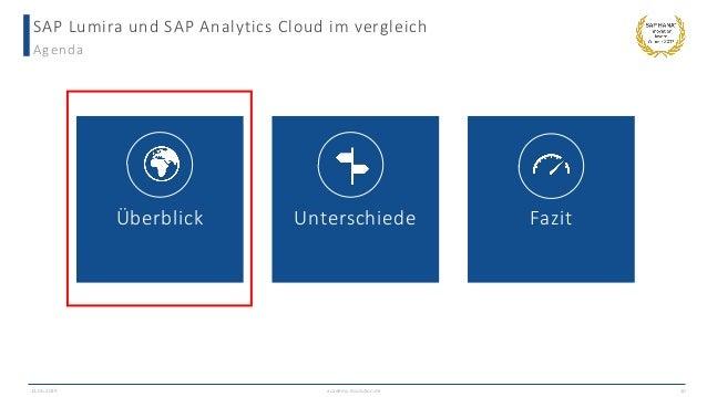 SAP Lumira und SAP Analytics Cloud im vergleich Agenda 13.06.2019 academy.ibsolution.de 10 Überblick Unterschiede Fazit