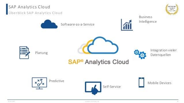 SAP Analytics Cloud Überblick SAP Analytics Cloud Mobile Devices Integration vieler Datenquellen Software-as-a-Service Bus...
