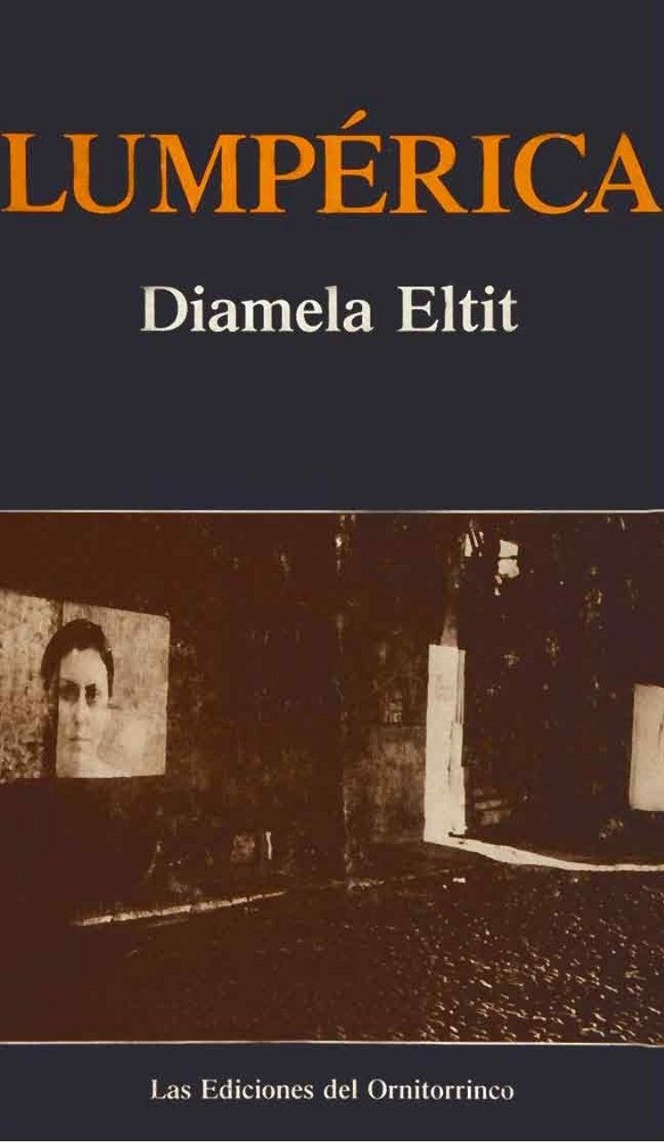 JAI              I r(Diamela Eltith s Ediciones del Ornitorrinco