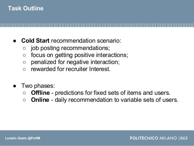 Content-Based approaches for Cold-Start Job Recommendations Slide 2