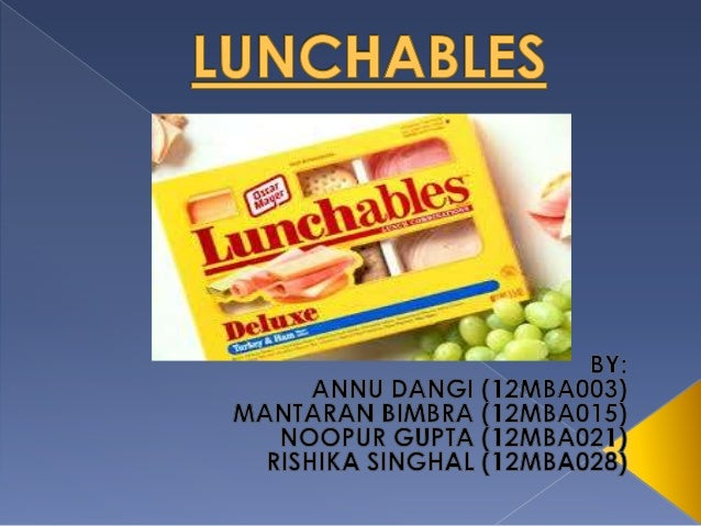 Lunchables was introduced in 1988.  It is a product manufactured by Krafts Food. It is meant for children.  This product...