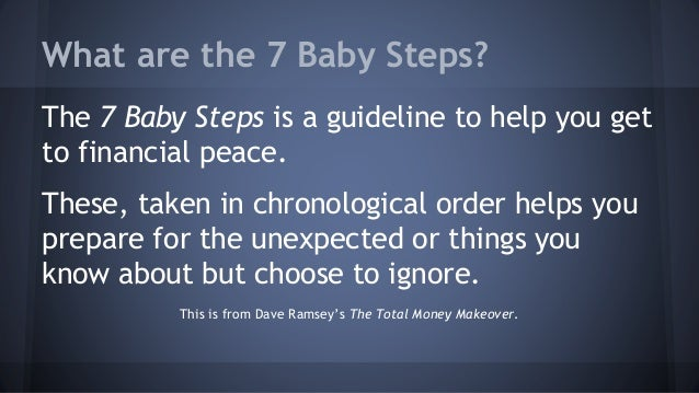 7 Baby Steps to Financial Freedom - Dave Ramsey