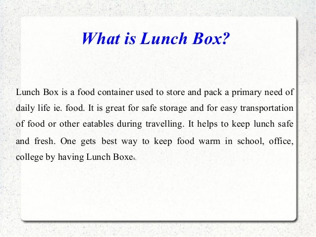 Things to remember while buying Lunch Box