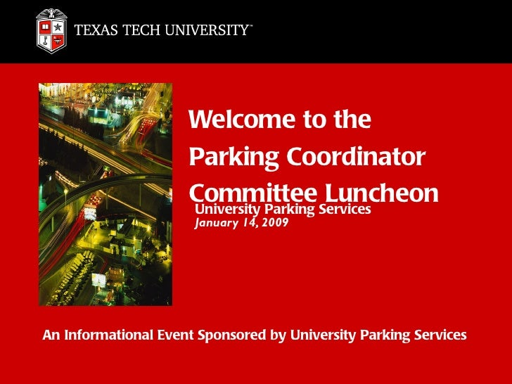Welcome to the                     Parking Coordinator                     Committee Services                     Universi...
