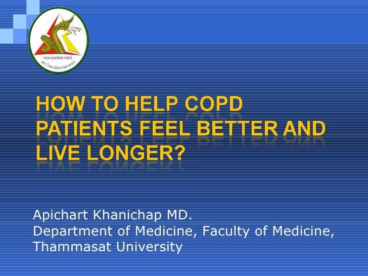 Apichart Khanichap MD. Department of Medicine, Faculty of Medicine, Thammasat University