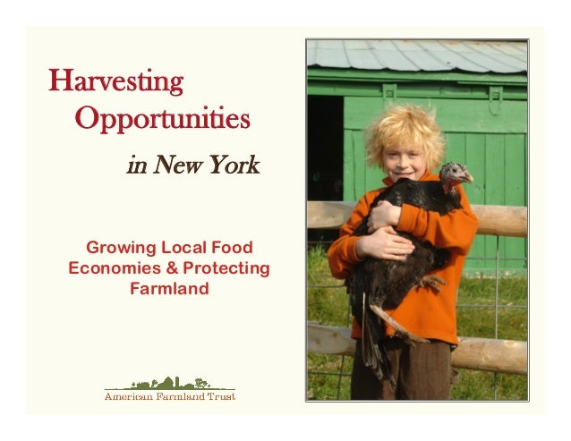 Harvesting Opportunities       in New York   Growing Local Food Economies & Protecting       Farmland
