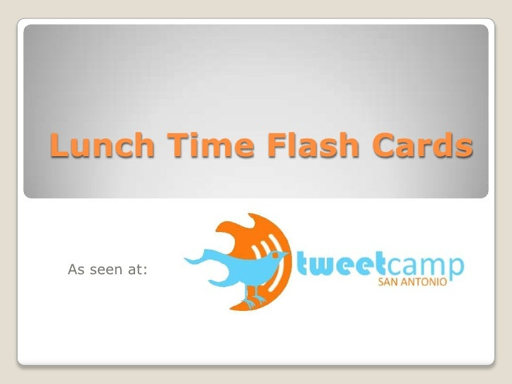 Lunch Time Flash Cards	<br />As seen at: <br />