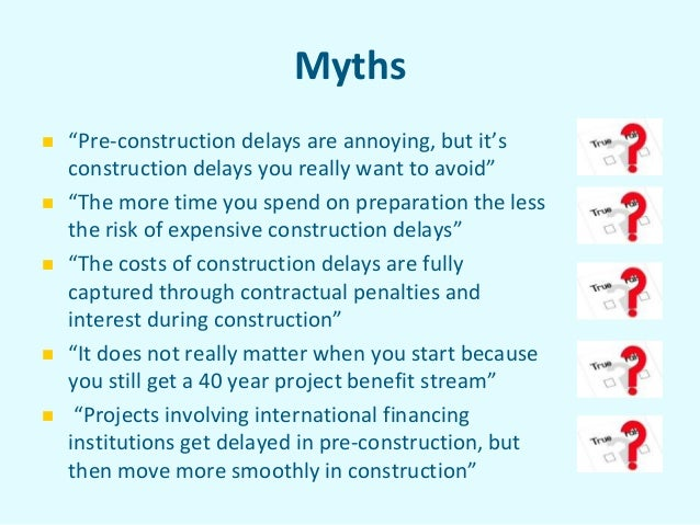 IHA 2013 World Congress: Judith Plummer: Special Lecture on the Impacts of Delays on Hydropower Projects Slide 3