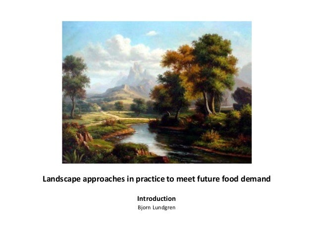 Landscape approaches in practice to meet future food demand Introduction Bjorn Lundgren