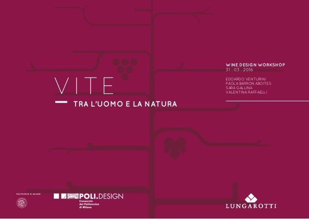 WINE DESIGN WORKSHOP 31 . 03 . 2016 EDOARDO VENTURINI PAOLA BARRON ABOITES SARA GALLINA VALENTINA RAFFAELLI TRA L'UOMO E L...