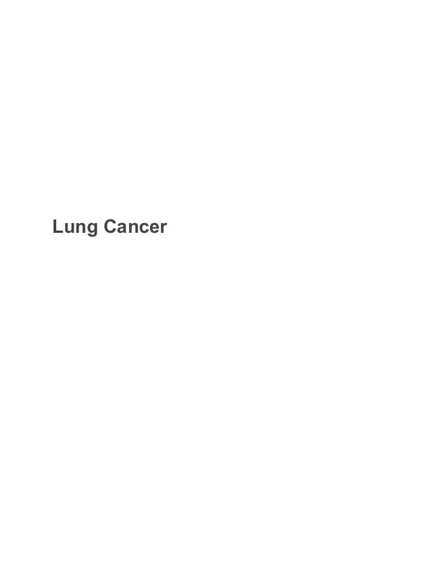 lung cancer biology sample paper essay