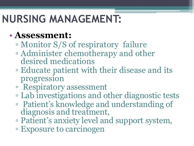 nursing case study lung cancer Pharmacology and nursing concepts hesi case study questions also include alternate  hesi case studies: rn medical-surgical collection (2 year  lung cancer .