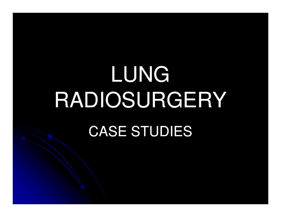lung cancer case study of a patient Aug 29 (upi) --chemotherapy to treat lung cancer may cause acute amenorrhea and lead to early menopause in women, according to a study the study, which was published wednesday in the journal.
