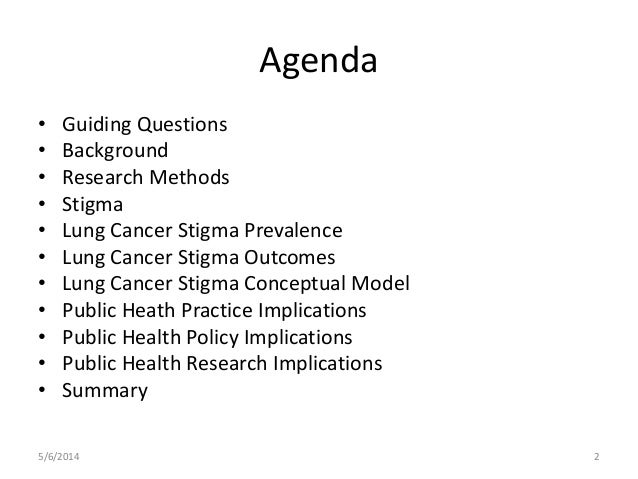 Lung cancer stigma: Causes, Prevalence, Impacts and Conceptual Model  Slide 2