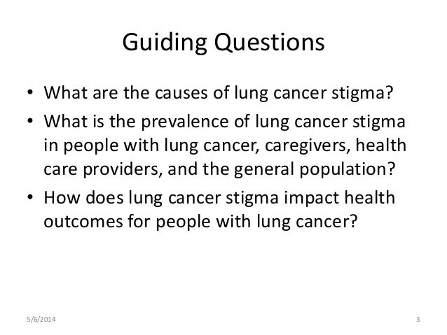 Lung cancer stigma: Causes, Prevalence, Impacts and Conceptual Model  Slide 3