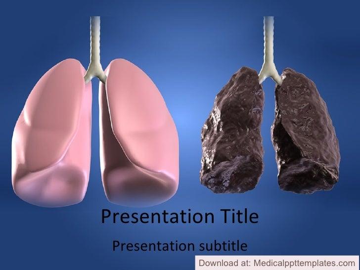 Lungs powerpoint templates presentation title presentation subtitle download at medicalppttemplates toneelgroepblik Gallery