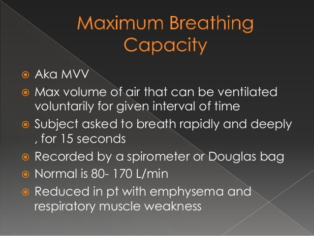 Lung volume and capacities